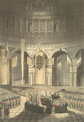 The ceremony of Lord Nelson's internment in St Paul's Cathedral